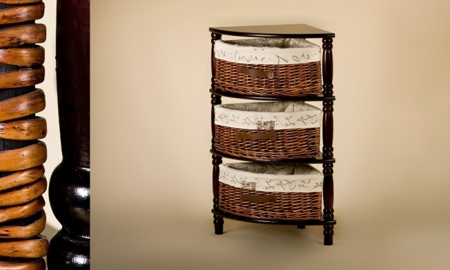 Wicker Cabinet 3 Drawers