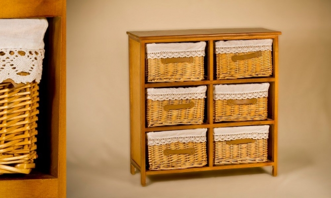 Wicker Cabinet 6 Drawers