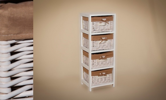 Wicker Cabinet 4 Drawers