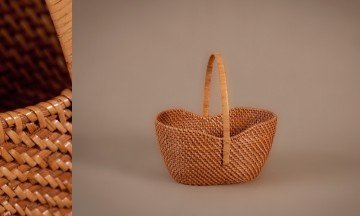 Cesta full rattan color miel
