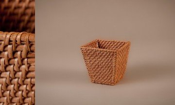 Contenedor full rattan color miel