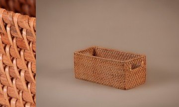 Full Rattan Basket Honey Color