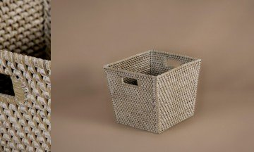 Full Rattan Basket White Color