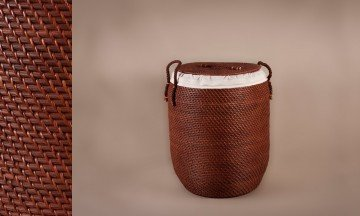 Cesto ropero full rattan color nogal