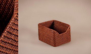 Full Rattan Basket Brown Color
