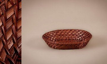 Panera oval rattan bamboo color nogal