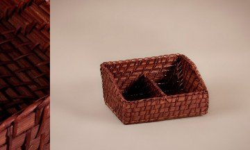 Rattan Bamboo Basket Brown Color