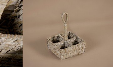 Rattan Bamboo Basket White Color