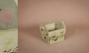 Wooden Flower Pot