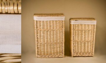 Set of 2 wicker Laundry Baskets