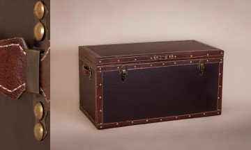 Leather and Wooden Trunk